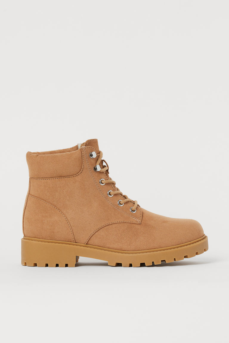 Warm-lined boots - Beige - Ladies | H&M