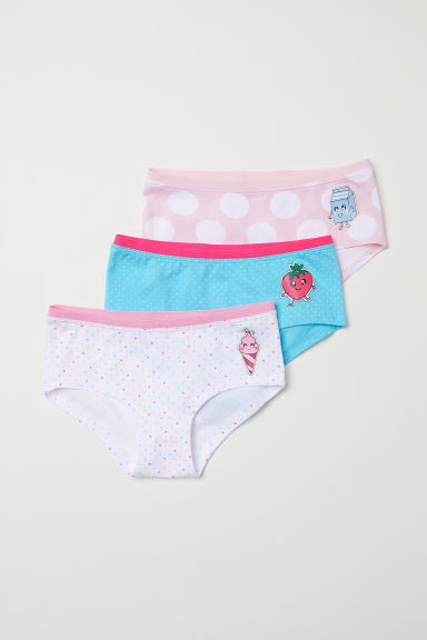 3-pack hipster briefs - Pink/Manga - Kids | H&M
