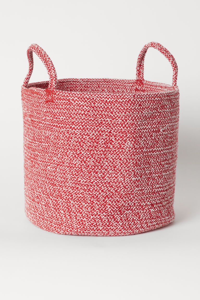 Cotton storage basket - Red marl - Home All | H&M CN