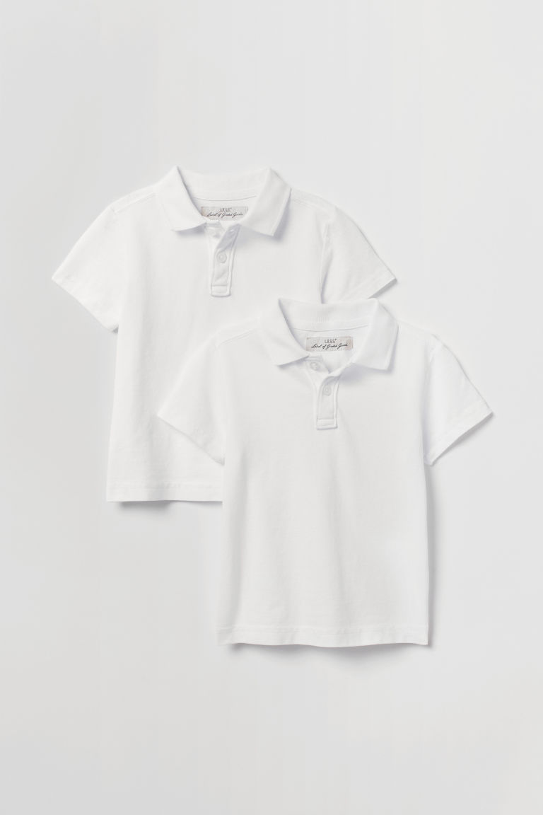 2-pack polo shirts - White - Kids | H&M CN