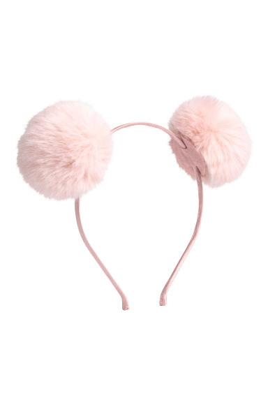 Alice band with pompoms - Light pink - Ladies | H&M