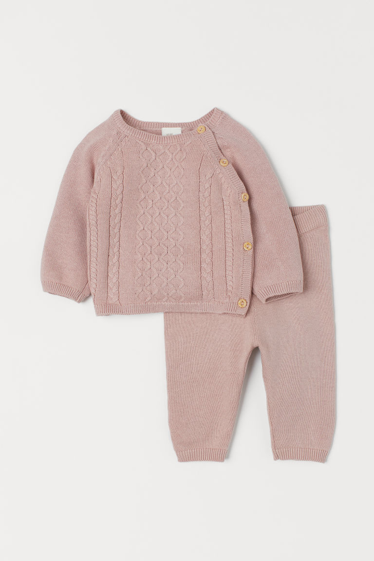 Cotton jumper and trousers - Light pink - Kids | H&M