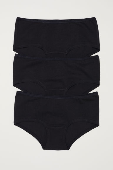 Cotton shortie briefs - Black -  | H&M CN