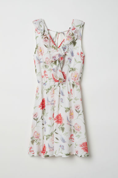 Wrap dress - White/Floral -  | H&M
