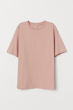 Wide cotton T-shirt