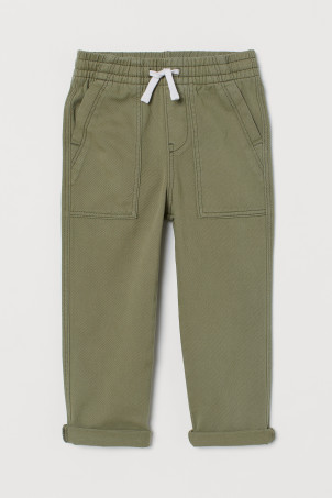 Cotton twill pull-on trousers