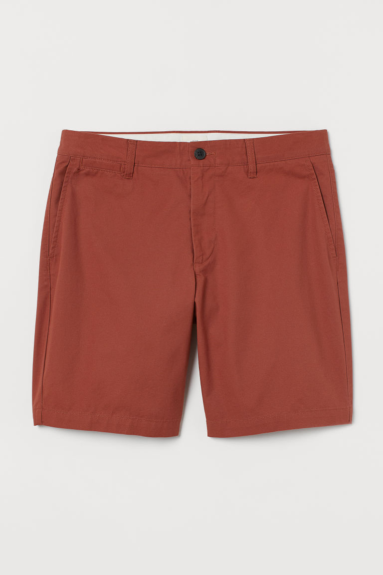 Chino shorts - Dark orange - Men | H&M