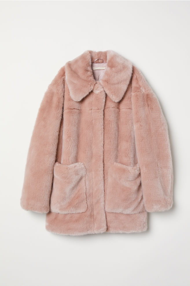 4dd80e320c4 Faux Fur Jacket - Dusty rose - Ladies