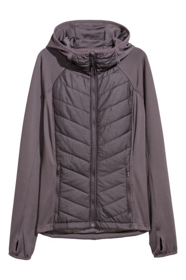 Padded outdoor jacket - Plum - Ladies | H&M CN