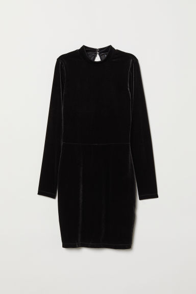 Fitted dress - Black -  | H&M