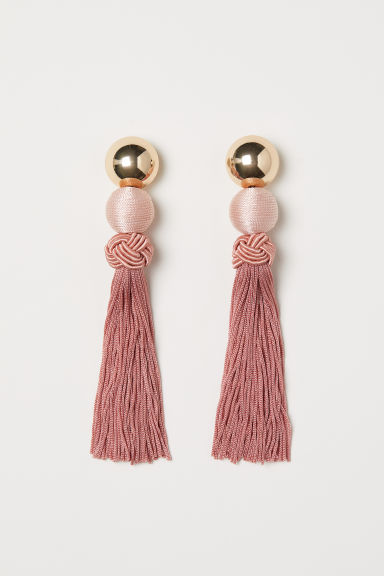 Long earrings - Apricot - Ladies | H&M GB
