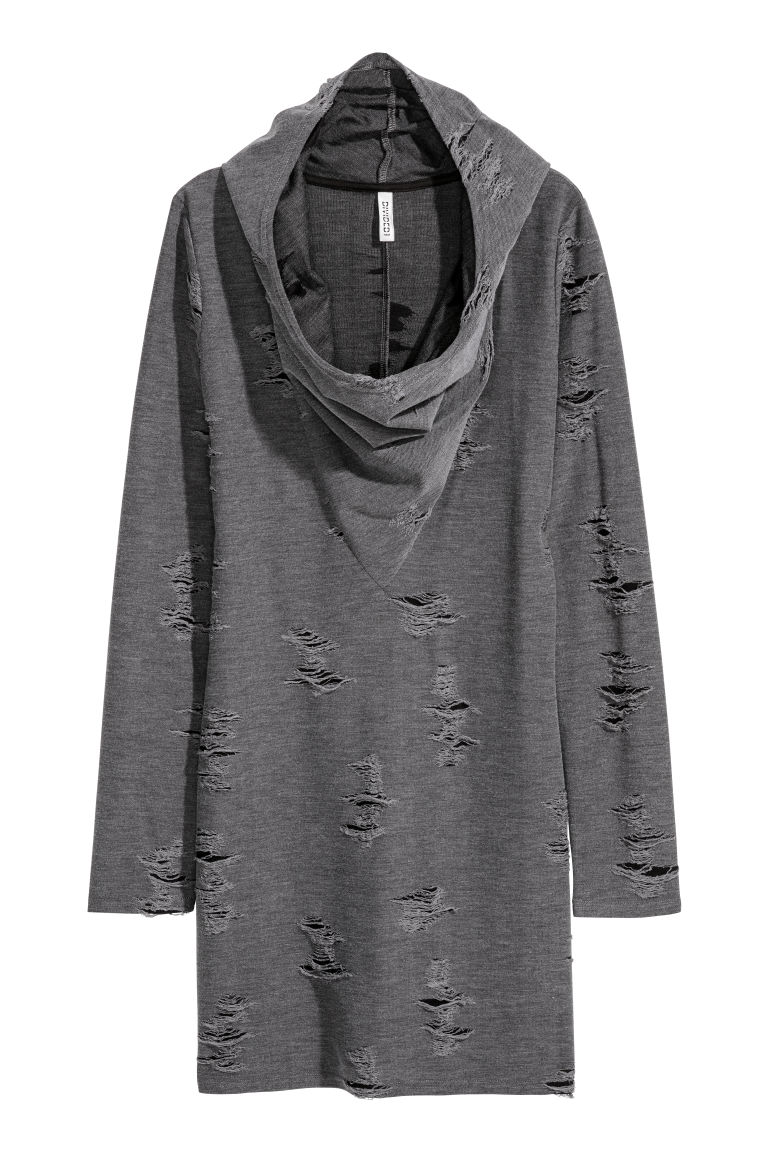 Knitted dress - Dark grey - Ladies | H&M CN