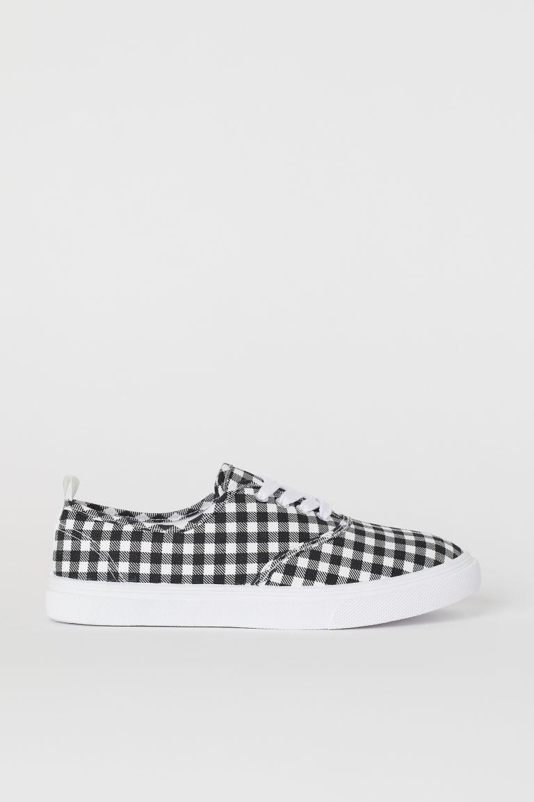 Trainers - Black/White checked - Ladies | H&M GB