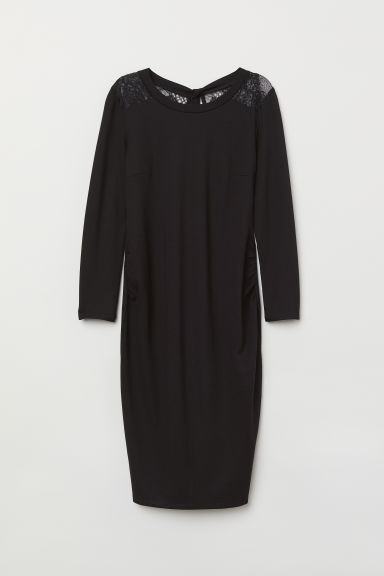 MAMA Dress with lace - Black - Ladies | H&M IE