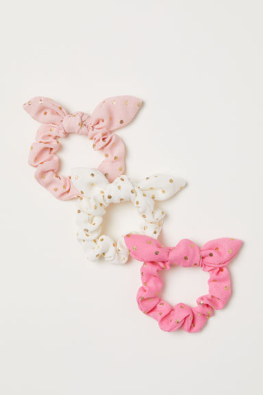 3-pack scrunchies - Light pink -  | H&M