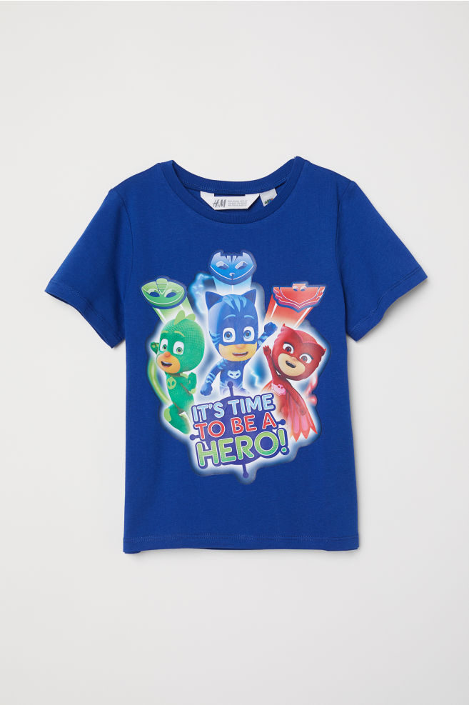 a577e9db7 T-shirt with Printed Design - Blue/PJ Masks - Kids | H&M US