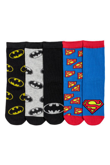 Pack 5 calcetines - Batman negro/Superman azul -  | H&M ES