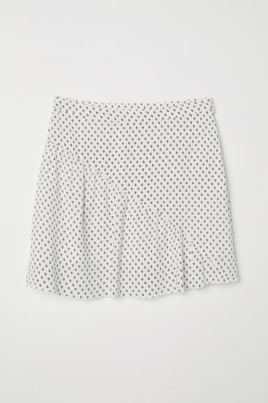 Gonna fantasia - Bianco/foglie - DONNA | H&M IT