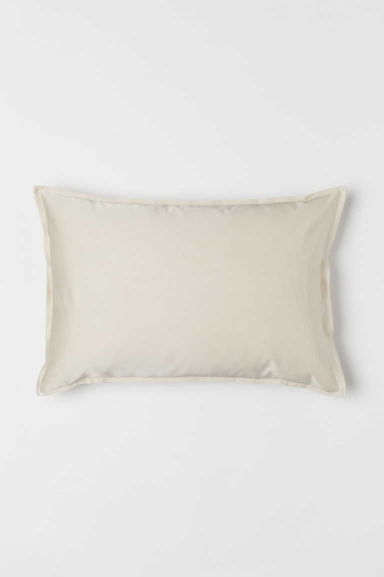 Solid colour cushion cover - Light beige - Home All | H&M CN