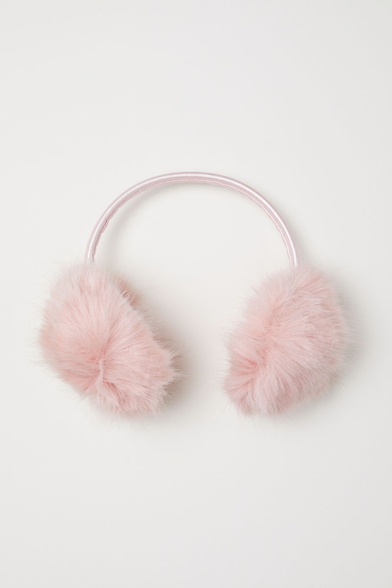 Faux Fur Earmuffs - Powder pink - Kids | H&M US