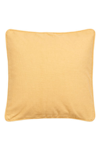 Cushion cover with piping - Light yellow - Home All | H&M CN