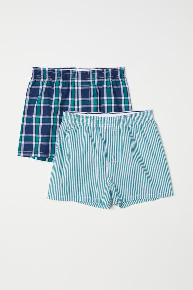 2-pack boxer shorts - Green/Checked - Kids | H&M CN
