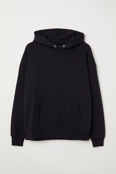 H&M+ Oversized hooded top - Black - Ladies | H&M