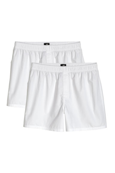 Boxers in a pima cotton weave - White -  | H&M CN