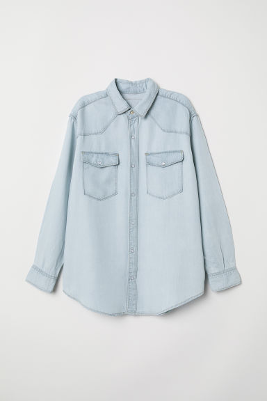 Camicia oversize in jeans - Blu denim chiaro -  | H&M IT