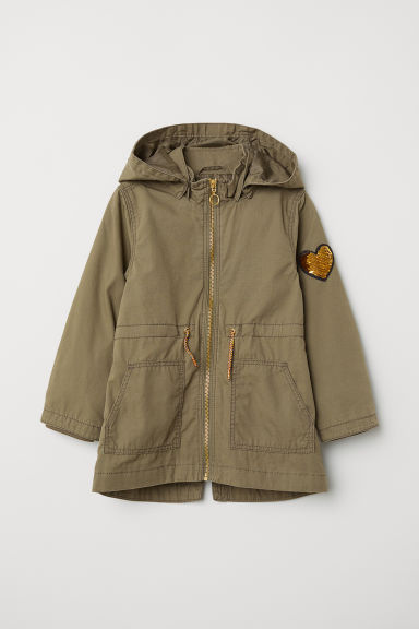 Parka with appliqué - Khaki green - Kids | H&M