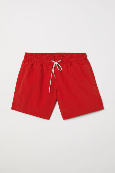 Zwemshort - Felrood - HEREN | H&M BE
