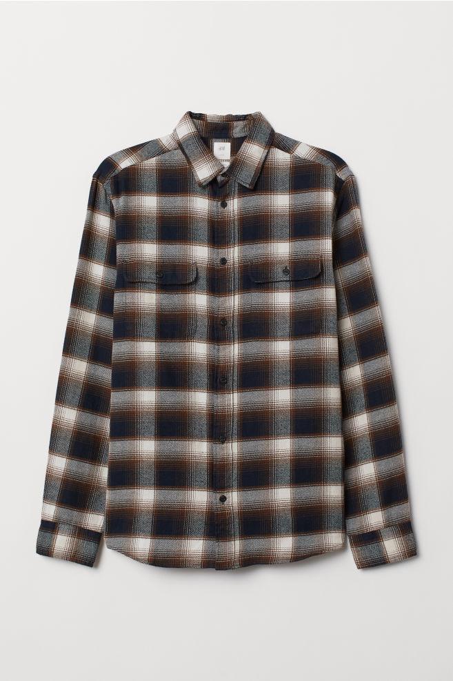 Bruin Overhemd.Overhemd Regular Fit Bruin Donkerblauw H M Nl