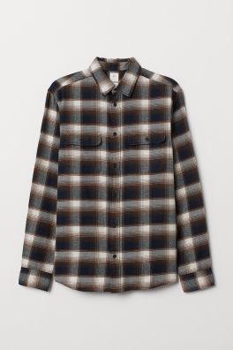 fc2aae23e105d Camisa em flanela Regular Fit