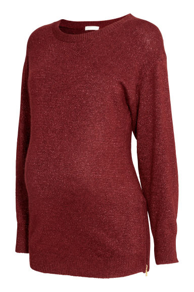 MAMA Knitted jumper - Burgundy -  | H&M