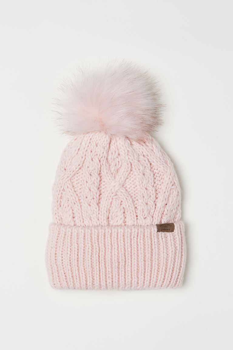 Knitted hat - Light pink - Kids | H&M GB