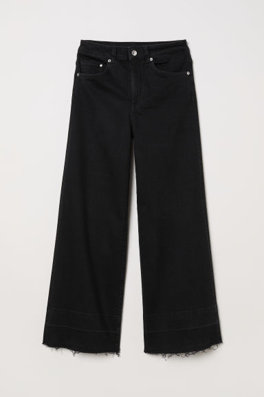 Denim culotte - High waist - Zwart -  | H&M BE