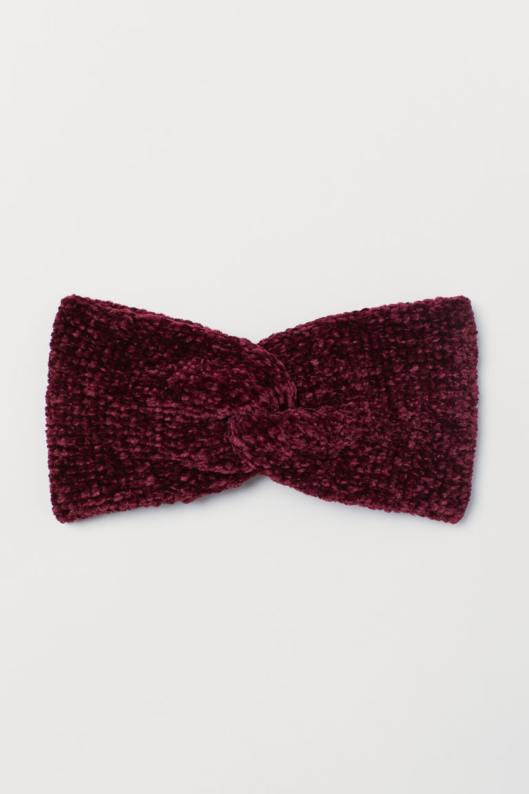 Chenille headband - Burgundy - Ladies | H&M CN