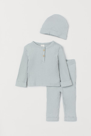 Driedelige tricot set