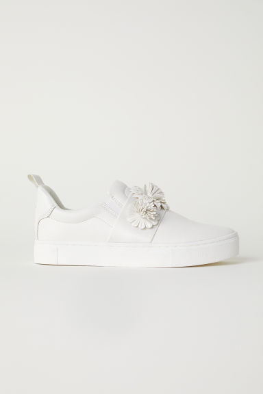 Trainers with appliqués - White - Ladies | H&M CN