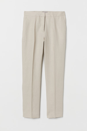 Linen cigarette trousers
