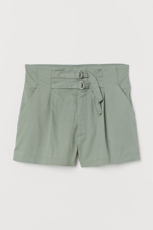 Twill shorts High WaistModel