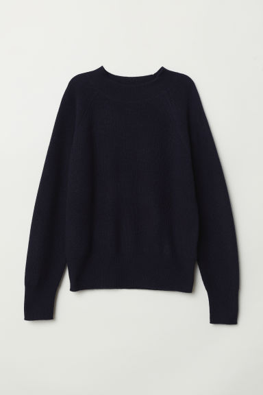 Cashmere jumper - Dark blue - Ladies | H&M