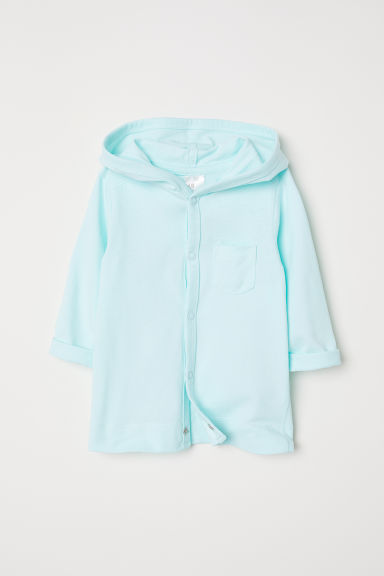 Jersey hooded cardigan - Light turquoise - Kids | H&M