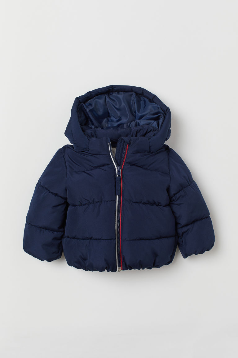 Padded Hooded Jacket - Dark blue - Kids | H&M US