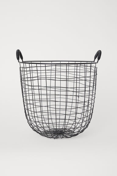 Large wire basket - Black - Home All | H&M CN