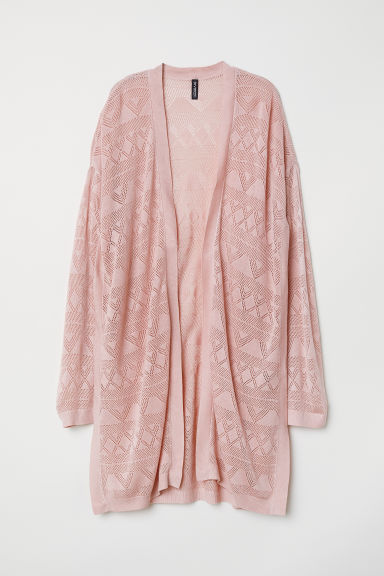 Fine-knit cardigan - Old rose -  | H&M CN