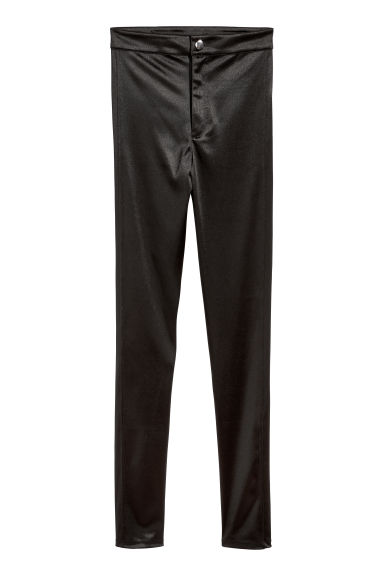 Glossy stretch trousers - Black - Ladies | H&M