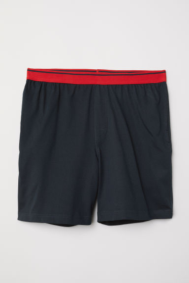 Pyjama shorts - Dark blue - Men | H&M CN
