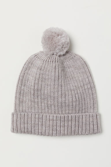 Ribbed wool hat - Light beige - Kids | H&M
