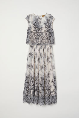 0ae5b6aa25c Платье из тюля с кружевом